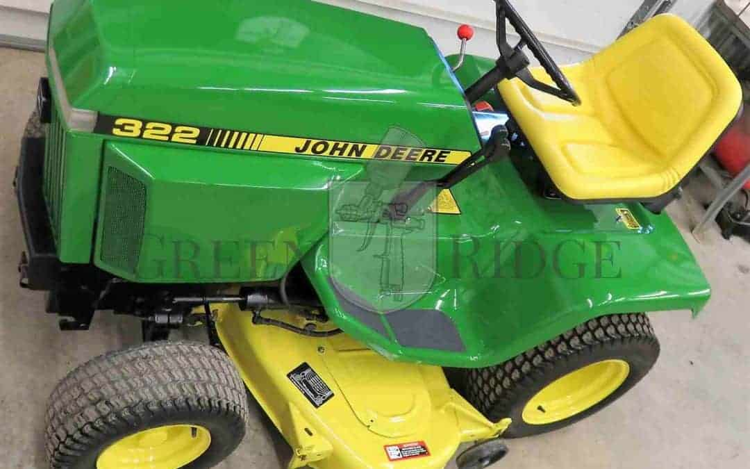 Have You Heard of the John Deere 322 Lawn Tractor?