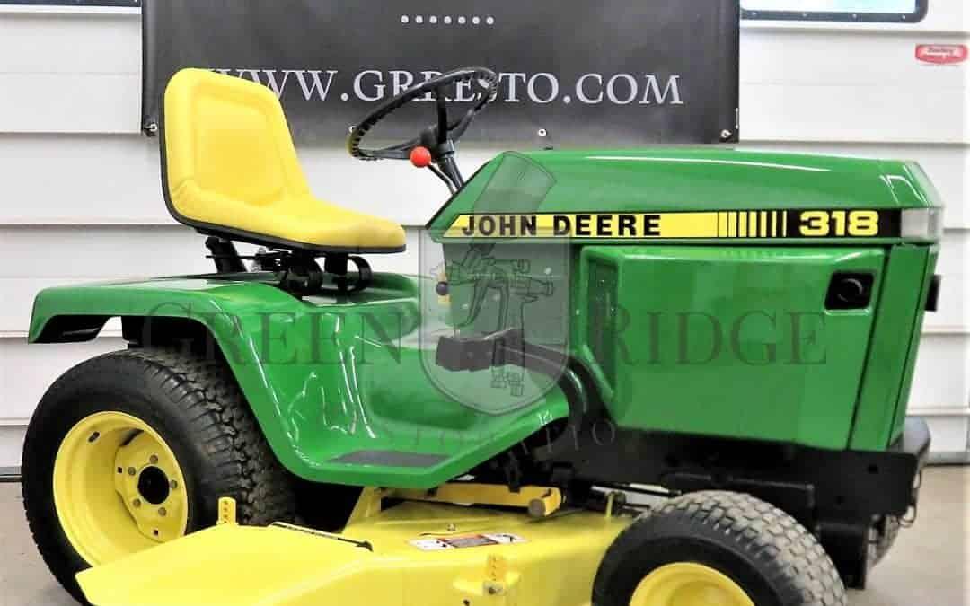 John Deere 318 Garden Tractor Archives Green Ridge